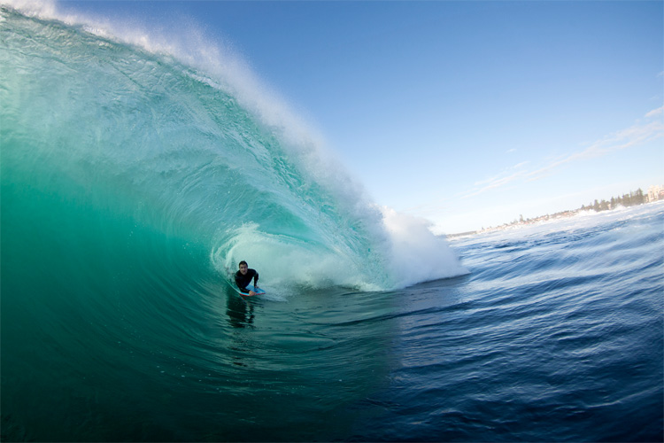 Shark Island: uma onda rápida e profunda Foto: Gleeson / Surf na Austrália