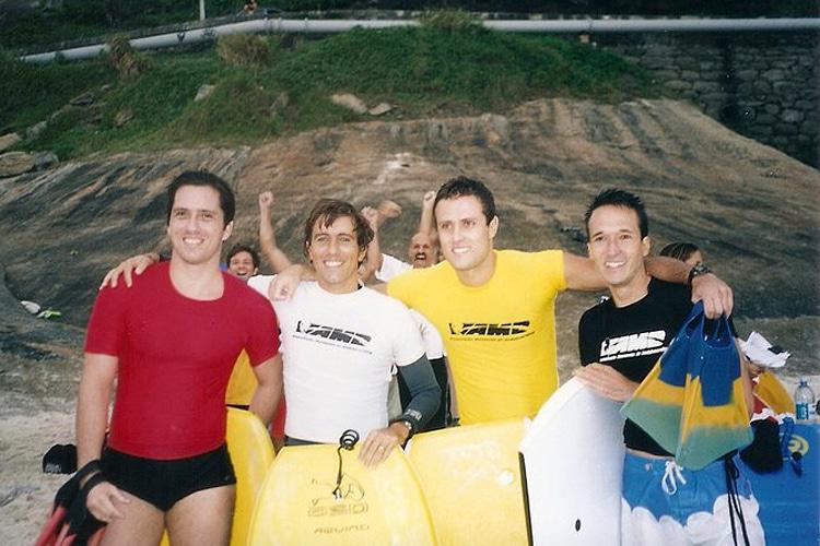 São Conrado, 2003: os finalistas de uma categoria master brasileira |  Foto: Rodrigo Monteiro