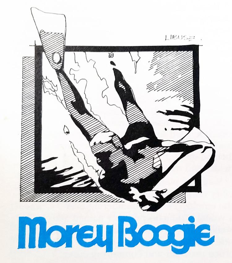 Morey Boogie: o logotipo da era Wham-O para cabelos curtos    Ilustração: Craig Libuse