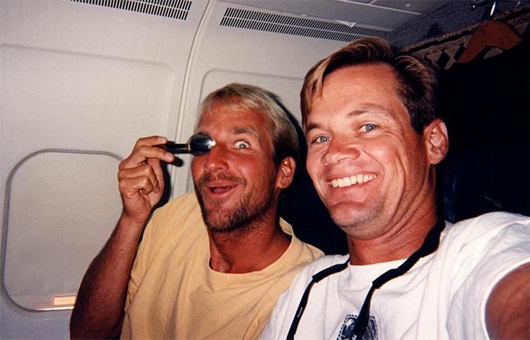 Mike Stewart e JP Patterson: Vivendo o sonho do bodyboard    Foto: Arquivos Patterson / História do bodyboard