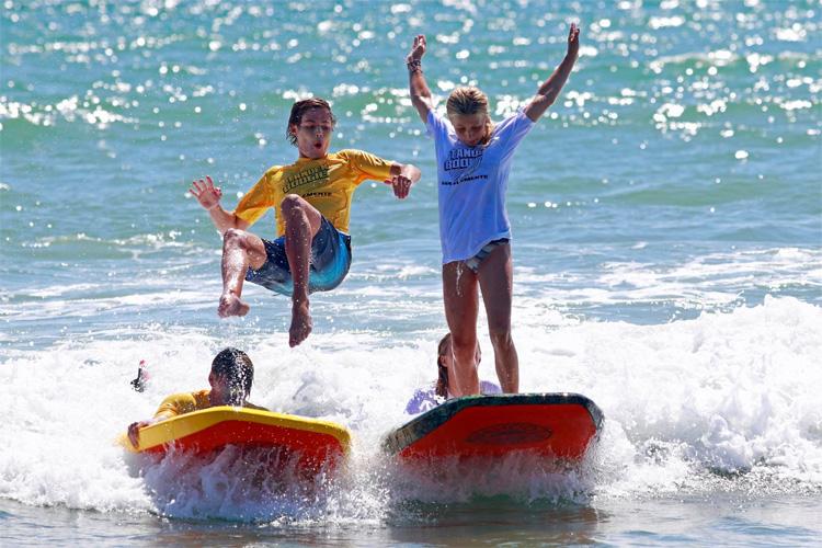 Tandem Boogie Board Competition 2019: os juízes querem ver coisas inovadoras e acrobacias malucas Foto: San Clemente Ocean Festival