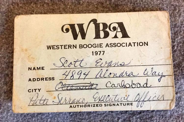 Western Boogie Association (WBA): o cartão de membro