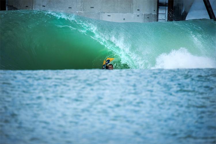 Ben Player: Quão grande é essa onda artificial que corta os lagos |  é produzido?  Foto: Harris / Surf Lakes