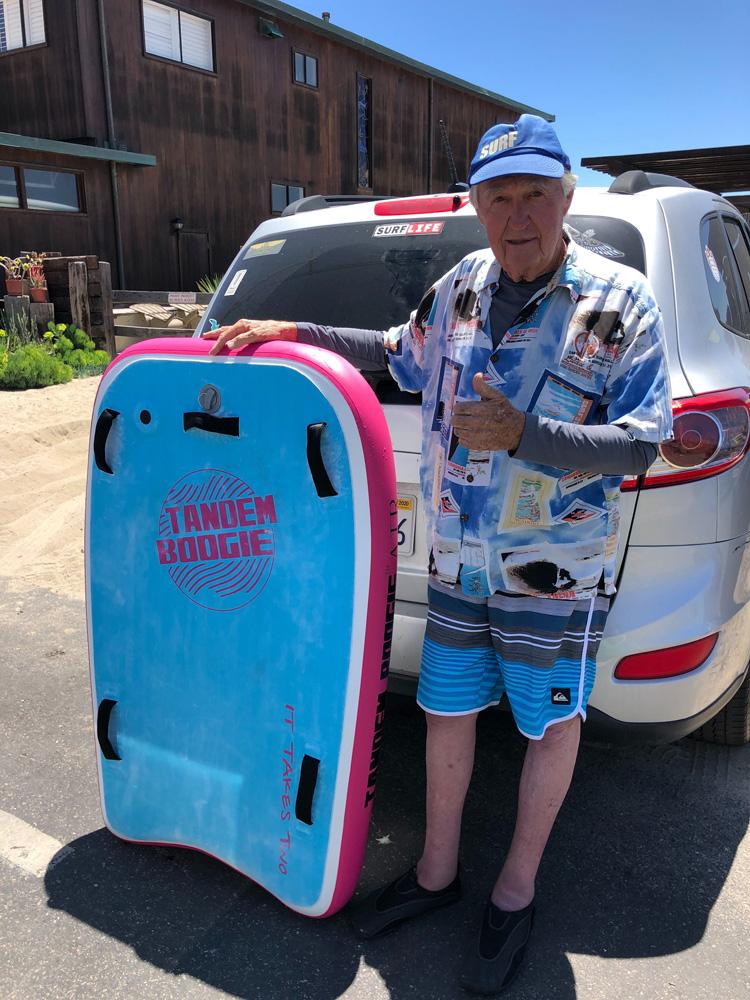 Tom Morey: O inventor do bodyboard aprova o Tandem Boogie    Foto: tandem boogie
