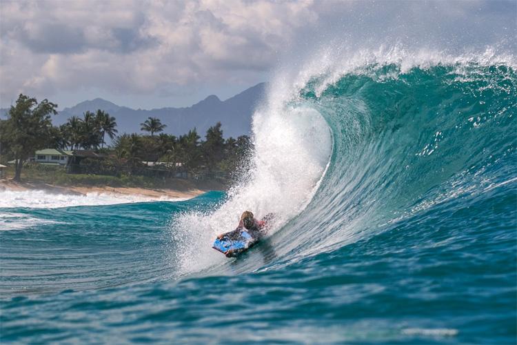 Bodyboard: Hawaii Pipeline é uma das paradas mais populares da turnê mundial    Foto: João Ricardo / APB