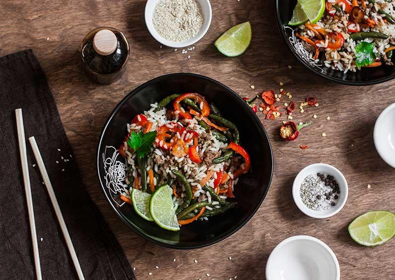 o que comer depois do arroz no ginásio wok