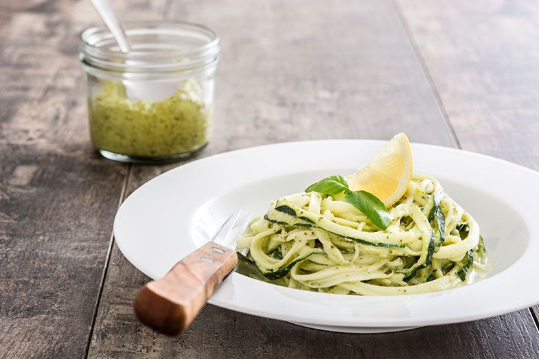 5. Espaguete com courgettes frescas