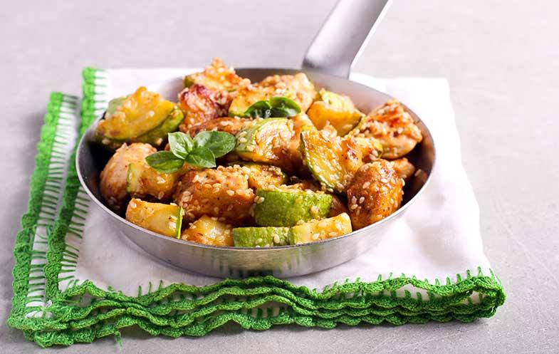 2. Salada de frango quente com legumes