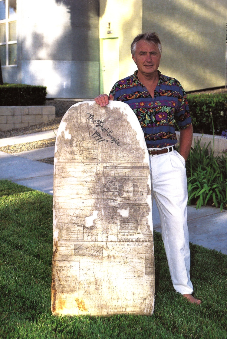 O primeiro Morey Boogie Board: inventado pelo inventor Tom Morey em 1971
