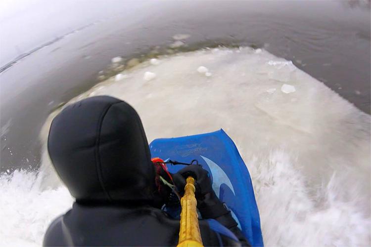 Boardercross Ice Bodyboard: Carlos Hebért quer que os profissionais experimentem    Foto: Arquivos Hébert