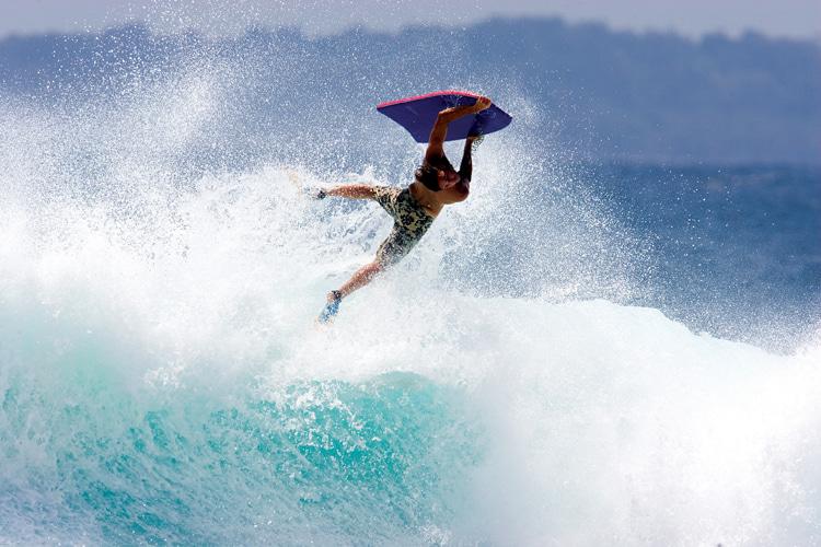 Rob Barber: O empresário de esportes aquáticos começou a praticar bodyboard aos dez anos em Cornwall, Inglaterra.  Foto: arquivo de cabeleireiro