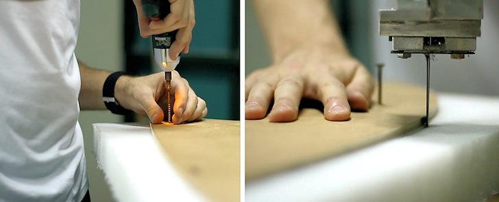 Curvas de bodyboard: desenhe linhas na destilaria: espuma de base Pryde