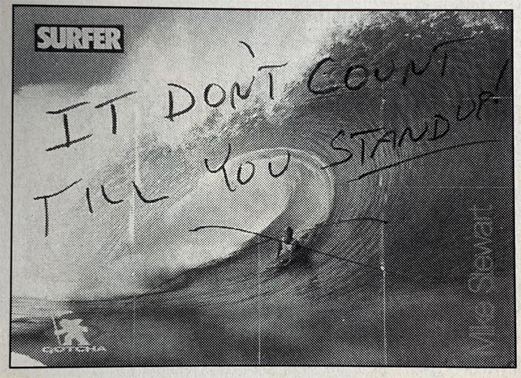 Revista Surfer: Antes, os surfistas em pé não gostavam de bodyboard