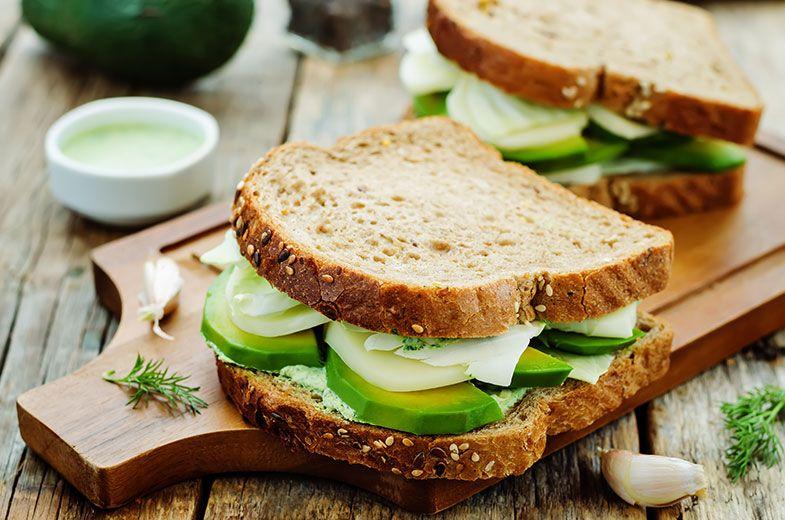 1. Sanduíche de vegetais