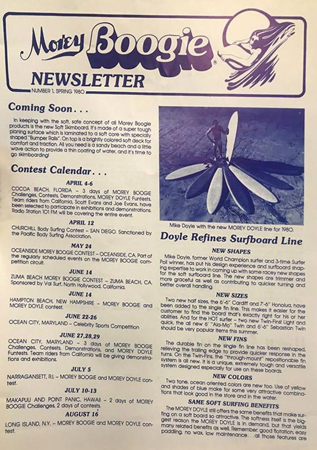 The Morey Boogie Newsletter, Número 1: Lançado na primavera de 1980)