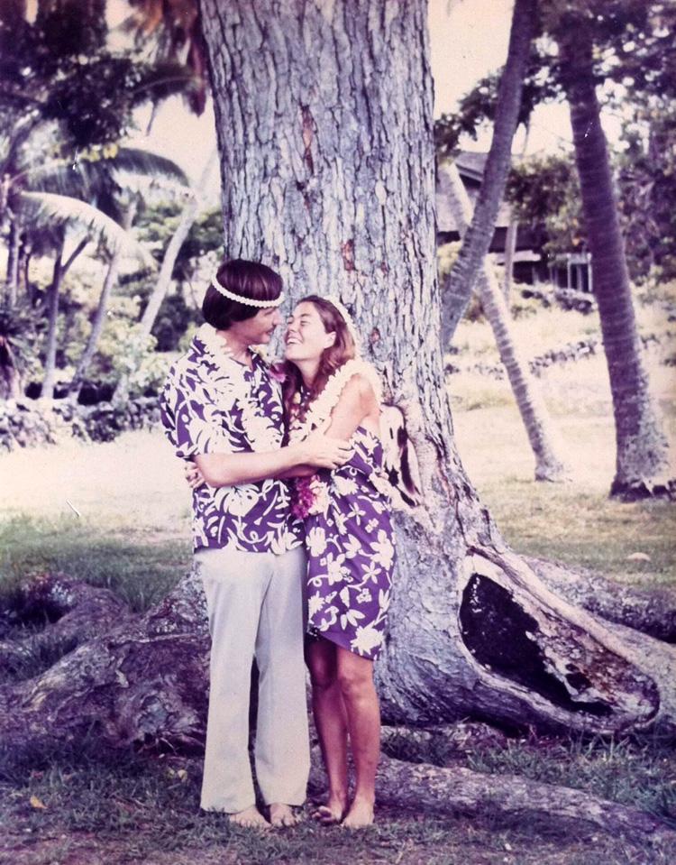 Tom Morey e Marchia Nichols: casados para sempre    Foto: Arquivos Morey